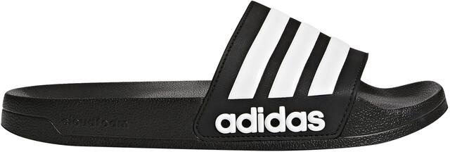 The Perfect adidas Adilette Black & White Slides For Sale